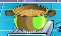 soupe de nouilles au poulet jeu de cuisine